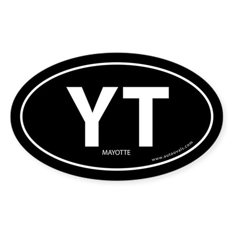 Mayotte country bumper sticker -Black (Oval)