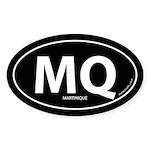 Martinique country bumper sticker -Black (Oval)