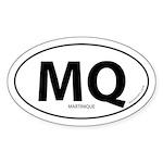 Martinique country bumper sticker -White (Oval)