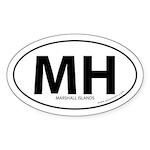 Marshall Islands bumper sticker -White (Oval)