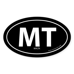 Malta country bumper sticker -Black (Oval)