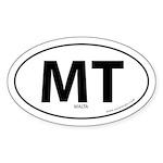 Malta country bumper sticker -White (Oval)