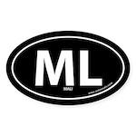 Mali country bumper sticker -Black (Oval)