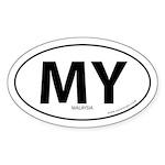 Malaysia country bumper sticker -White (Oval)