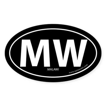 Malawi country bumper sticker -Black (Oval)