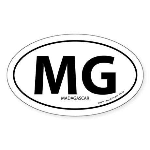 Madagascar country bumper sticker -White (Oval)