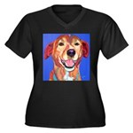Ridgeback Women's Plus Size V-Neck Dark T-Shirt