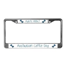 Blue Heeler Agility Artwork License Plate Frame