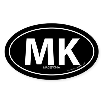 Macedonia country bumper sticker -Black (Oval)