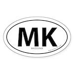 Macedonia country bumper sticker -White (Oval)