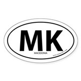 Macedonia country bumper sticker -White (Oval)