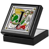 Celtic Dragon Art J Keepsake Box