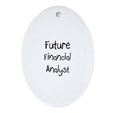 Future Financial Analyst Oval Ornament