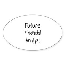 Future Financial Analyst Oval Decal