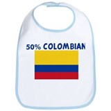 50 PERCENT COLOMBIAN Bib