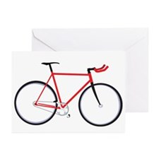 single speed bike Greeting Cards (Pk of 10)