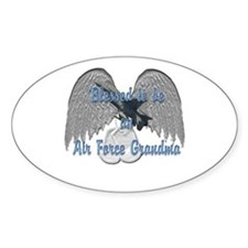 Blessed Air Force Grandma Oval Decal