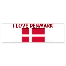 I LOVE DENMARK Bumper Bumper Sticker