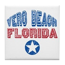 Vero Beach Florida Patriotic Distressed Tile Coast
