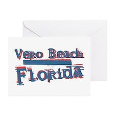 Vero Beach Florida Vintage Art Greeting Cards (Pk