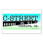 C Street Rectangle Sticker