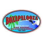 Boxapalooza Oval Sticker