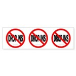 NO DROP INS Three 4 One Bumper Sticker