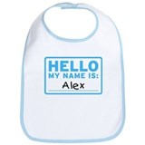 Hello My Name Is: Alex - Bib