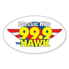 99.9 The Hawk Oval Decal