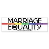 MARRIAGE EQUALITY Bumper Car Sticker