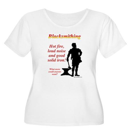 Hot fire loud noise Women's Plus Size Scoop Neck T