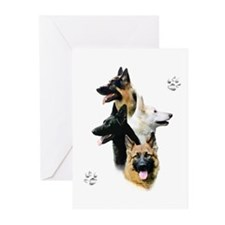 GSD Quad Greeting Cards (Pk of 20)