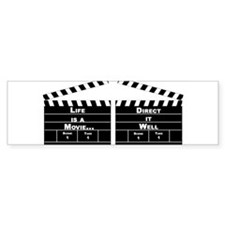 Life is a movie - Bumper Bumper Sticker