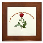 A rose by any other name Framed Tile