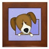 Cartoon Beagle Framed Tile