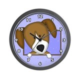 Cartoon Beagle Clock