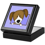Cartoon Beagle Keepsake Box