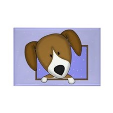 Cartoon Beagle Rectangle Magnet