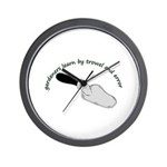Gardeners learn by trowel Wall Clock