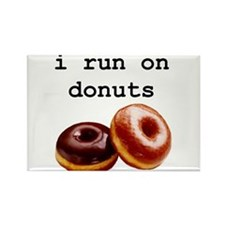 i run on donuts Rectangle Magnet