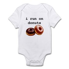 i run on donuts Infant Bodysuit