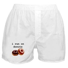 i run on donuts Boxer Shorts
