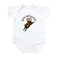 Light Bull Riding Infant Bodysuit