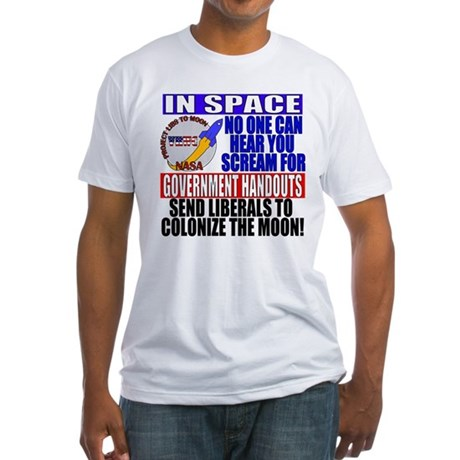 Liberals In Space VRWC  Fitted T-Shirt