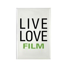 Live Love Film Rectangle Magnet (100 pack)