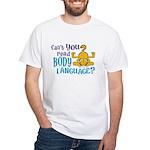 Body Language Garfield White T-Shirt