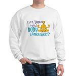 Body Language Garfield Sweatshirt