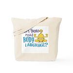 Body Language Garfield Tote Bag