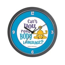 Body Language Garfield Wall Clock