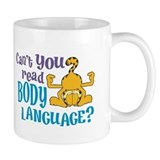 Body Language Garfield Small Mug